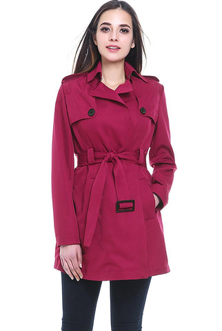 "BGSD Women's ""Gabby"" Mid Length Trench Coat"