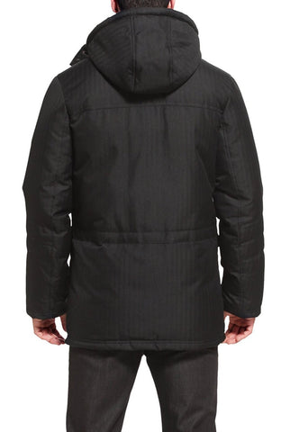 "BGSD Men's ""David"" Hooded Patch Pocket Down Filled Anorak Jacket"