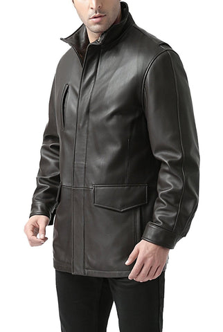 bgsd mens bryson zealand lambskin leather coat tall 1
