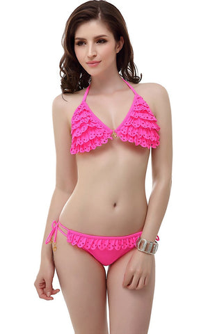 "Miss Adola Women's ""Jenn"" Bikini Top & Bottom 2-Piece Swimwear Set"