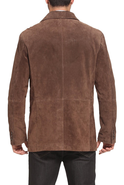 "BGSD Men's ""Todd"" Button Front Suede Leather Blazer"