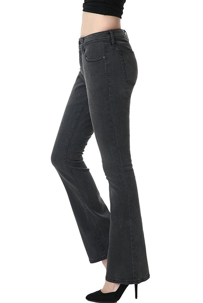phistic Women's Ultra Stretch Gray Modern Bootcut Jeans