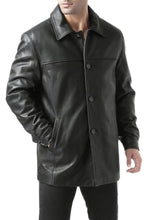 "Load image into Gallery viewer, BGSD Men's ""Samuel"" New Zealand Lambskin Leather Car Coat - Tall"