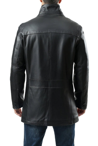 "BGSD Men's ""Chad"" New Zealand Lambskin Leather Car Coat"