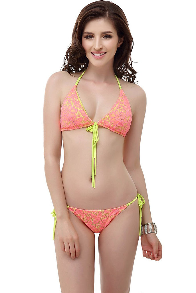 "Miss Adola Women's ""Julia"" Bikini Top & Bottom 2-Piece Swimwear Set"