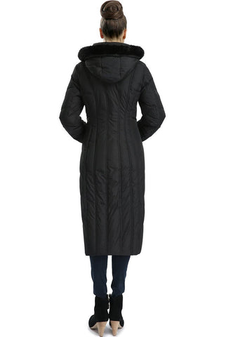 "BGSD Women's ""Tabby"" Waterproof Hooded Maxi Down Coat - Plus"