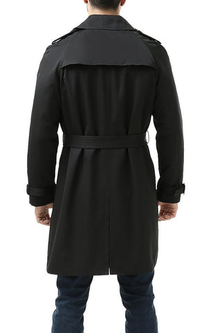 "BGSD Men's ""Anthony"" Classic Double Breasted Trench Coat"