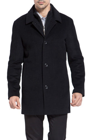 BGSD Men's 'Justin' Cashmere Blend Car Coat - Tall