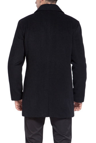 BGSD Men's 'Justin' Cashmere Blend Car Coat - Big