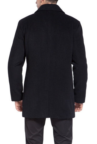 "MODERM Mens ""Justin"" Cashmere Blend Car Coat - Big & Tall"