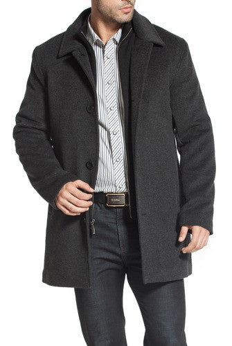 BGSD Men's 'Justin' Cashmere Blend Car Coat