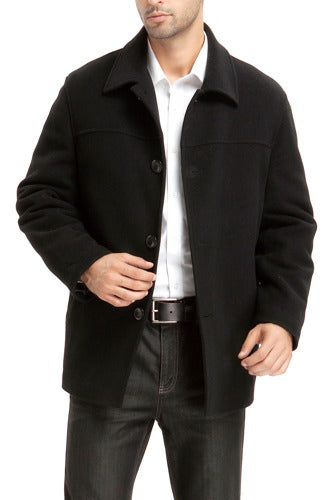 "BGSD Men's ""Matthew"" Wool Blend Car Coat - Big & Tall"