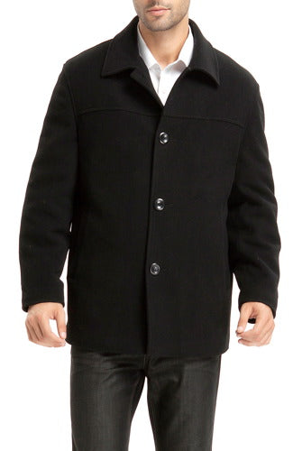 "BGSD Men's ""Matthew"" Wool Blend Car Coat - Tall"