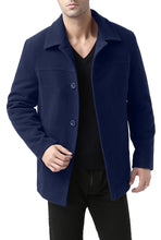 "Load image into Gallery viewer, BGSD Men's ""Matthew"" Wool Blend Car Coat - Big & Tall"