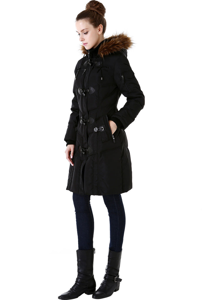BGSD Women's Water Resistant Quilted Down Toggle Coat; BGSD Women's Water  Resistant Quilted Down Toggle ... - BGSD Women's Water Resistant Quilted Down Toggle Coat – Luxury Lane