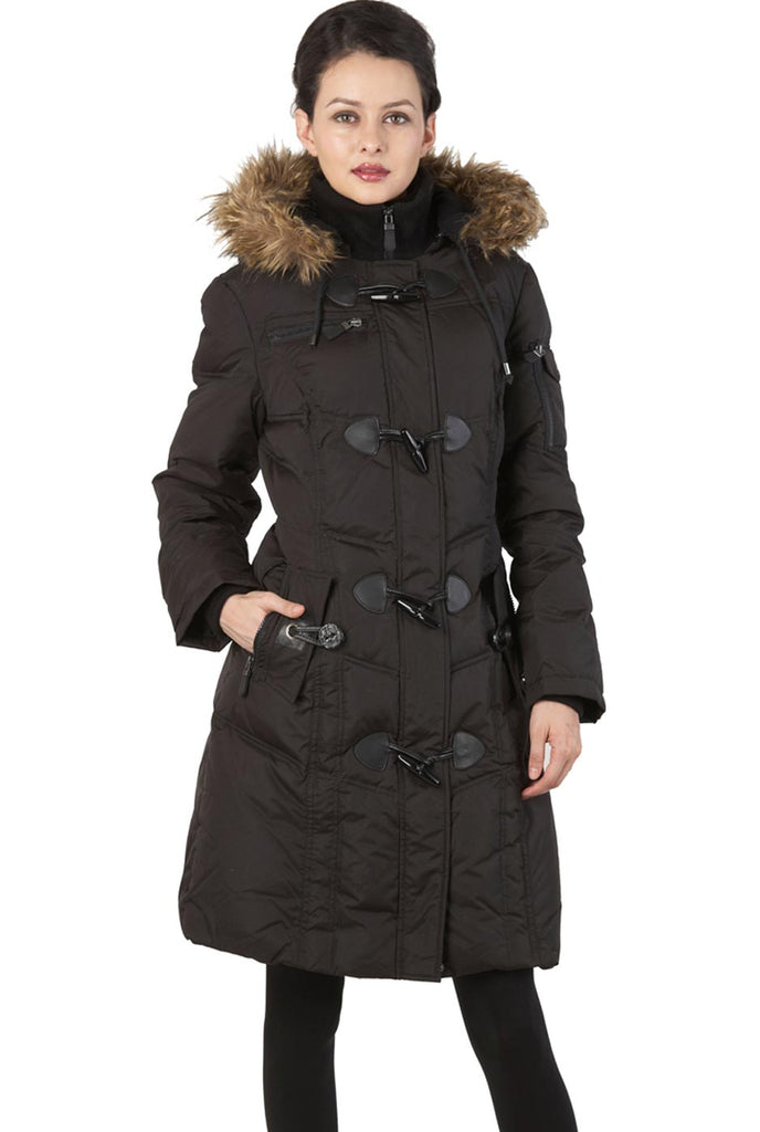 BGSD Women's Water Resistant Quilted Down Toggle Coat