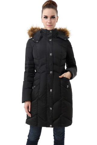 "BGSD Women's ""Jessa"" Waterproof Chevron Quilted Puffer Parka Coat"
