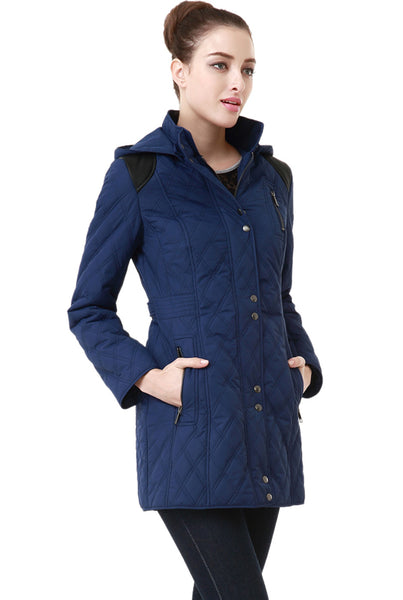 "BGSD Women's ""Jean"" Water Resistant Quilted Parka Coat"