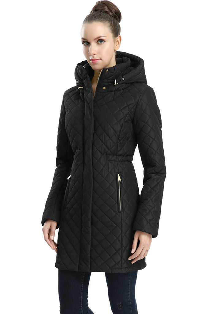 Bgsd Women S Quot Angela Quot Water Resistant Quilted Parka Coat
