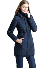 "Load image into Gallery viewer, BGSD Women's ""Angela"" Waterproof Quilted Parka Coat"