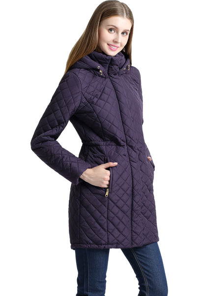 "BGSD Women's ""Angela"" Water Resistant Quilted Parka Coat"