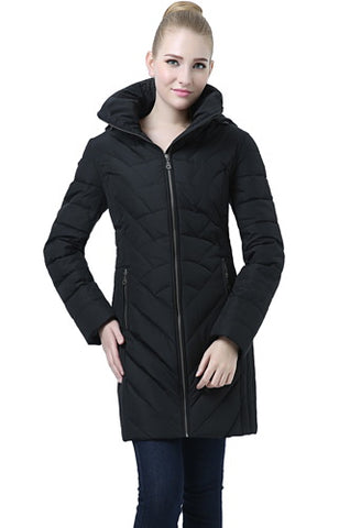 "BGSD Women's ""Eva"" Hooded Waterproof Down Coat"