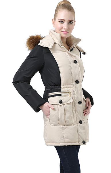 "BGSD Women's ""Aria"" Hooded Water Resistant Down Parka Coat"