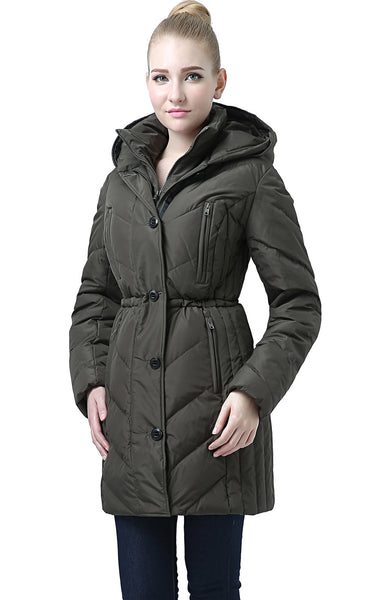 "BGSD Women's ""Vera"" Hooded Waterproof Down Parka Coat"