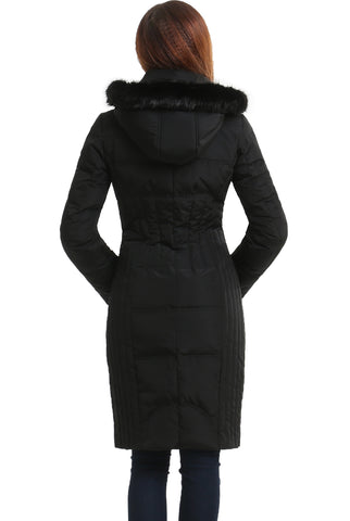 "BGSD Women's ""Bonnie"" Water Resistant Hooded Long Down Coat"