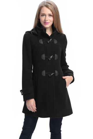 BGSD Womens Daisy Wool Blend Toggle Coat - Plus