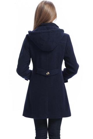 "BGSD Women's ""Daisy"" Wool Blend Toggle Coat - Plus"