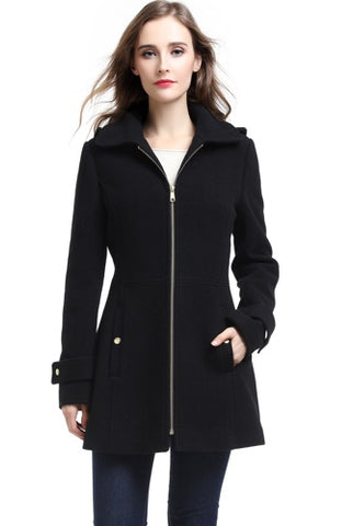 "BGSD Women's ""Lina"" Wool Blend Hooded Parka Coat - Plus"