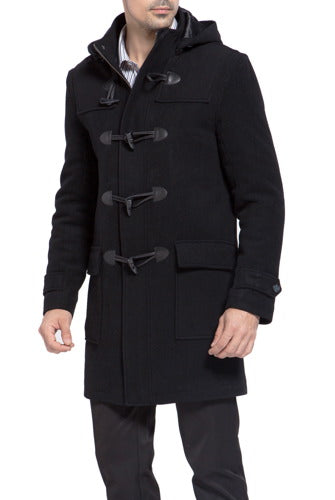 "BGSD Men's ""Benjamin"" Wool Blend Classic Duffle Coat - Big & Tall"