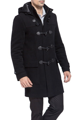 "BGSD Men's ""Benjamin"" Wool Blend Classic Duffle Coat - Big"