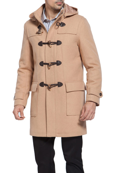 "BGSD Men's ""Benjamin"" Wool Blend Classic Duffle Coat"