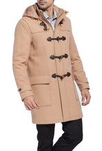 "Load image into Gallery viewer, BGSD Men's ""Benjamin"" Wool Blend Classic Duffle Coat"