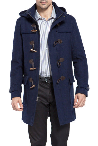 "BGSD Men's ""Benjamin"" Wool Blend Classic Duffle Coat - Tall"