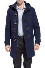 "Load image into Gallery viewer, BGSD Men's ""Benjamin"" Wool Blend Classic Duffle Coat - Big & Tall"
