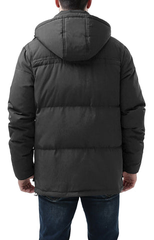 "BGSD Men's ""Connor"" Hooded Waterproof Toggle Down Parka Coat - Big"
