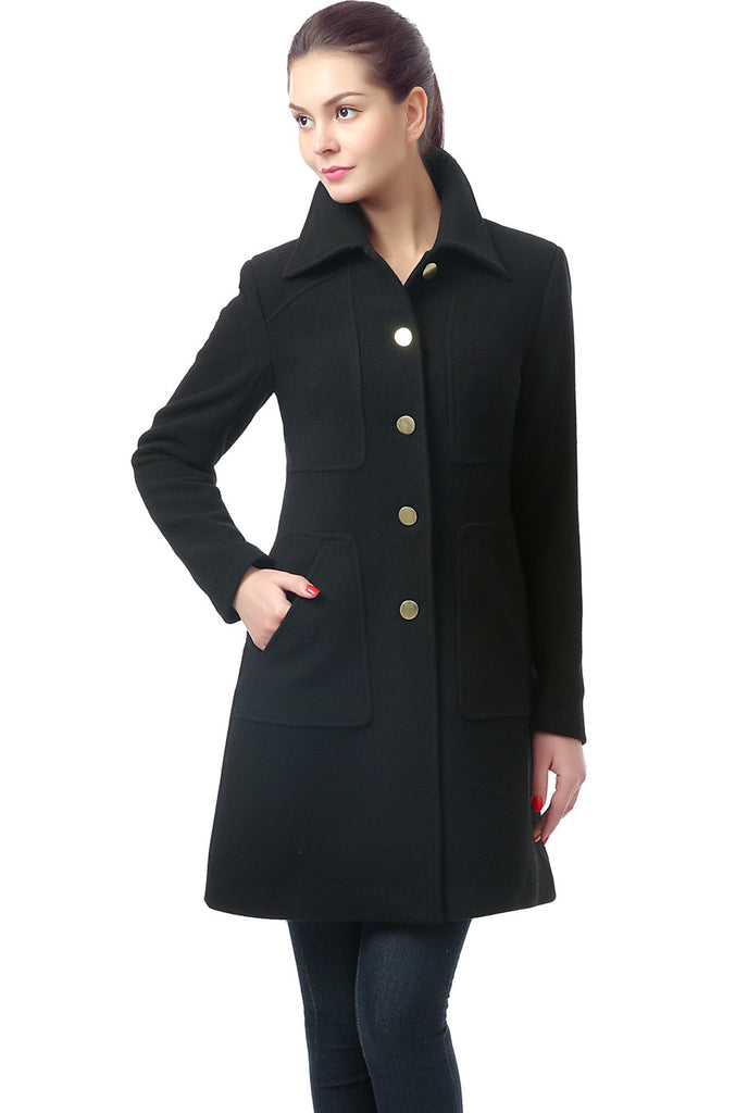 BGSD Women's 'Elizabeth' Wool Blend Patch Pocket Coat