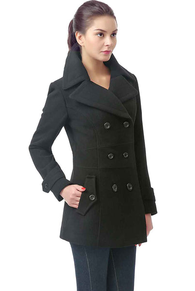 BGSD Women's 'Joann' Wool Blend Pea Coat - Plus