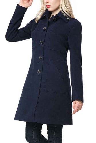 BGSD Women's Anna Wool Blend Walking Coat - Plus