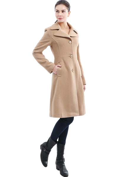 BGSD Women's 'Cara' Wool Blend Long Walking Coat