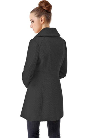 "BGSD Women's ""Lorelei"" Wool Blend Boucle Walking Coat"