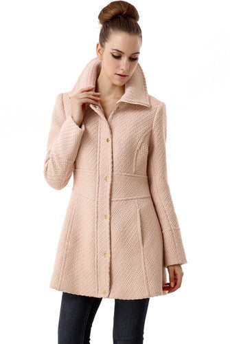 BGSD Womens Lorelei Wool Blend Boucle Walking Coat
