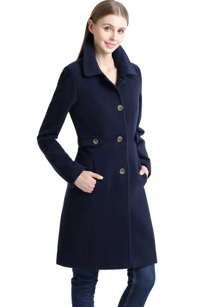 BGSD Women's 'Heather' Missy & Plus Size Wool Blend Walking Coat