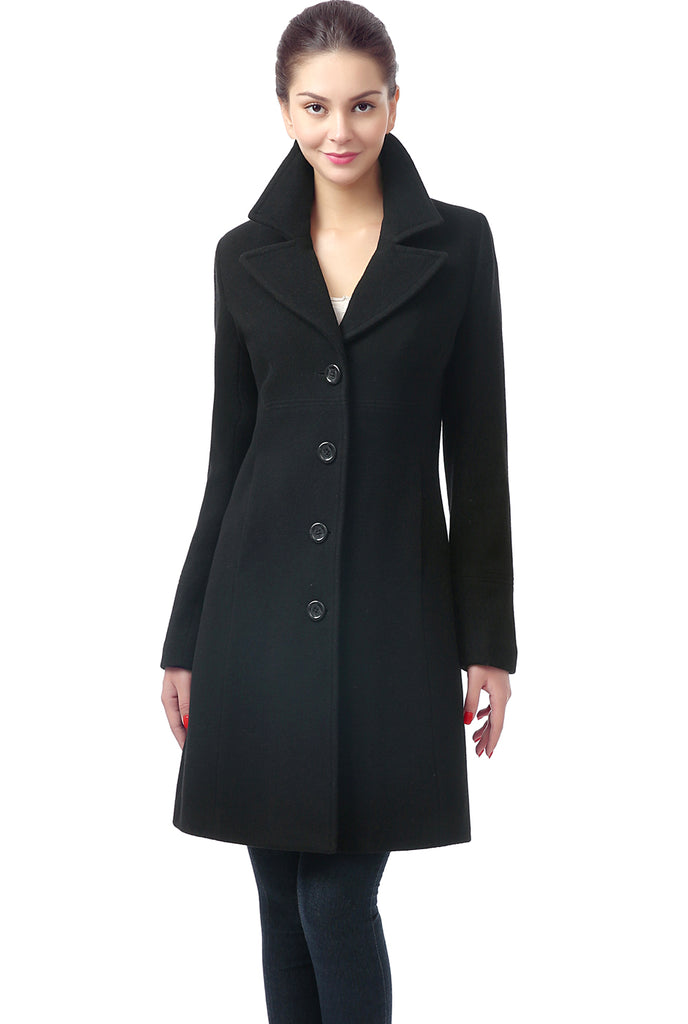 BGSD Women's 'Joan' Wool Blend Walking Coat - Plus