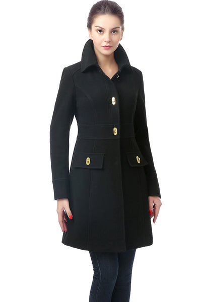 BGSD Women's 'Taylor' Wool Blend Turn Key Coat