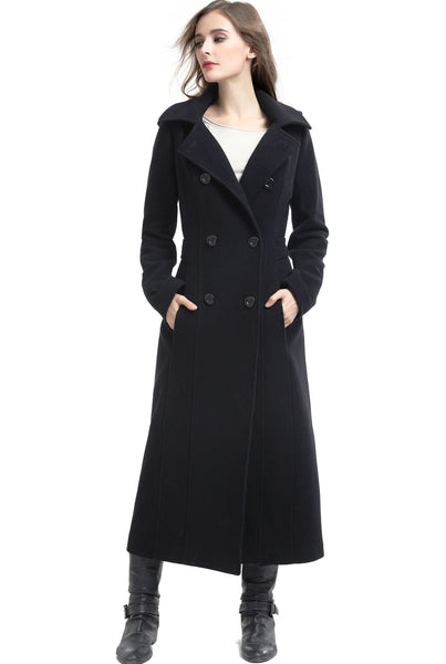 "BGSD Women's ""Mariel"" Wool Blend Hooded Long Coat - Plus"