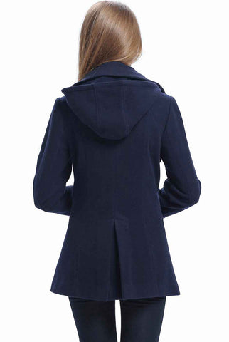 "BGSD Women's ""Piper"" Wool Blend Pea Coat - Plus"
